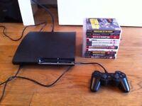PS3 SLIM 300GB + 11 GAMES