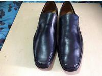 Black Leather Lavorazione Artigiana size 45
