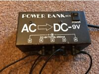 9Volt Power Bank for Guitar Pedals 5 way