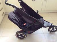 Phil & Teds Explorer Black Jogger Double Seat Stroller