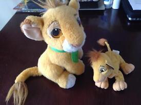 2 X official Disney Simba toys 1993