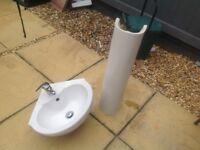 Pedestal and sink