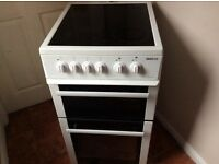 Beko 50cm ceramic cooker white