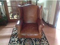 Laura Ashley Denbigh leather chair