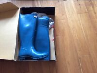 Knee length Hunter wellingtons