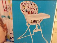 New boxed Graco folding High Chair