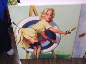 Pin up canvas art for sale