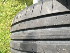 2 Dunlop 205 55 16 tyres on alloys