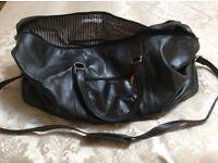 Hand luggage real leather bag