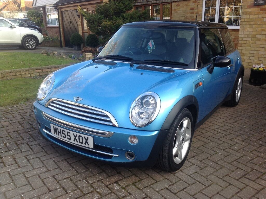2005 mini cooper electric blue petrol with panoramic sun roof in benfleet essex gumtree. Black Bedroom Furniture Sets. Home Design Ideas