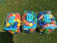 3 bags kids ball pit balls