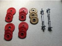 One pair Dumbells with weights