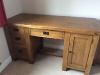 Rustic oak home office furniture