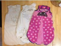 Baby girl 0-6 month winter sleeping bags.