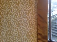 Large full length lined livingroom curtains X 2 pairs