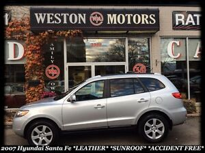 2007 Hyundai Santa Fe GL Premium w/Lth *LEATHER *SUNROOF *ACCIDE