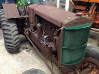 Massey Harris pacemake vintage tractor ,very original and runs well.Video of running on requert