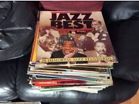 Approx 50 jazz vinyl records, vgc