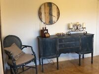 Sideboard, Large, Shabby Chic. Aubusson Blue.