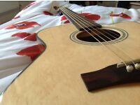 Fender Electro Acoustic Guitar, hardly used