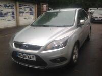 2009 Ford Focus 1.6 Zetec, 5 Door, Silver, MOT till 2 Aug 2018, FSH, 2 Keys, HPI Clear