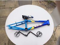 GT INTERCEPTOR BMX FRAME AND OTHER PARTS