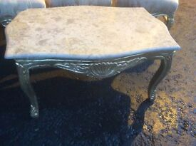 French style marble top coffee table