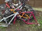 Job lot of five bike s all need fixing and two frames inc specialized