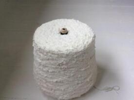 Popcorn knitting yarn , cream / ivory 862g ... mixed blend