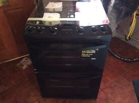 Black Zanussi gas cooker new all paperwork manufacturers waranty60cm