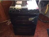Black Zanussi gas cooker new all paperwork manufacturers waranty60cm