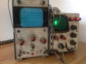 2 oscilloscopes.both fairly old telequipment D61 & S32
