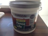 Fence paint x3 full tubs