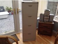 TRIUMPH METAL FILING CABINET FOUR DRAWER IN VERY GOOD CONDITION