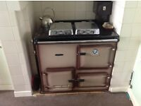 Rayburn nouvelle gas cooker & cental heating system - farmhouse style