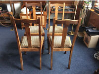 4.vintage Dining Chairs