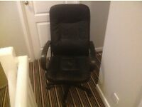 Executive chair swivel tilt and height adjustable, excellent condition