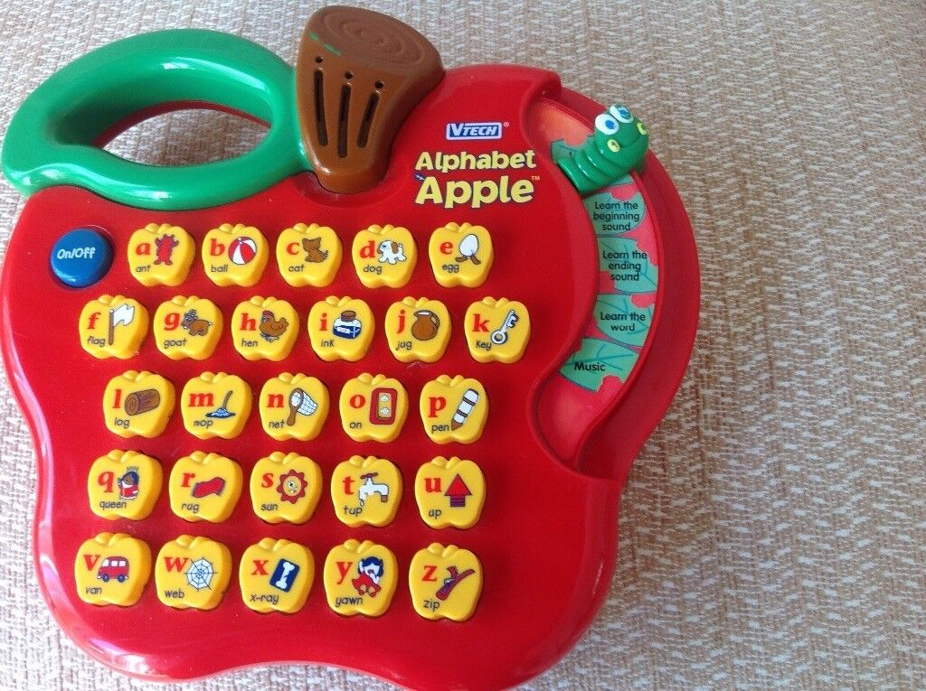 Vtech Alphabet Apple electronic toy which is in very good ...