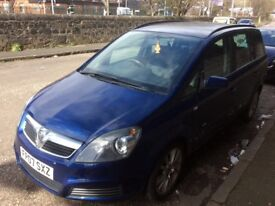 VAUXHALL ZAFIRA 7SEATER 07 PLATE (CHEAP CAR )
