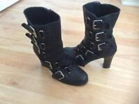 Oasis Leather Biker Boots