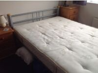 "4'6"" double bed with mattress"