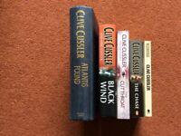 5 CLIVE CUSSLER BOOKS/NOVELS