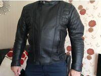 Men's leather bike jacket
