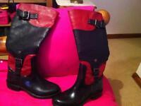 New designer boots size 5