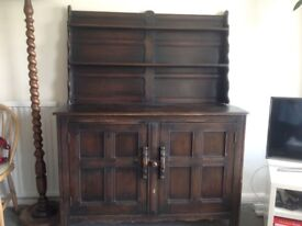 Vintage Ercol colonial style Welsh dresser. One owner since new.