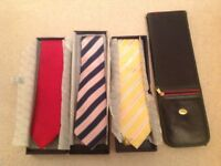 Quality 100% silk mens ties by Samuel Windsor+tie travelcase