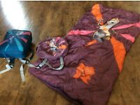 2 kids London olympics sleeping bags and carry rucksack