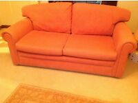 Gold/brick red colour sofa bed