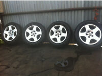 Audi wheels with new tyres