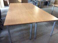 4 Beech Rectangle Desks / Tables